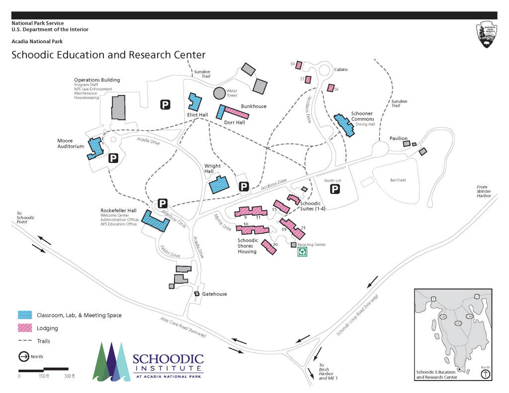 Schoodic Education and Research Center Campus Map