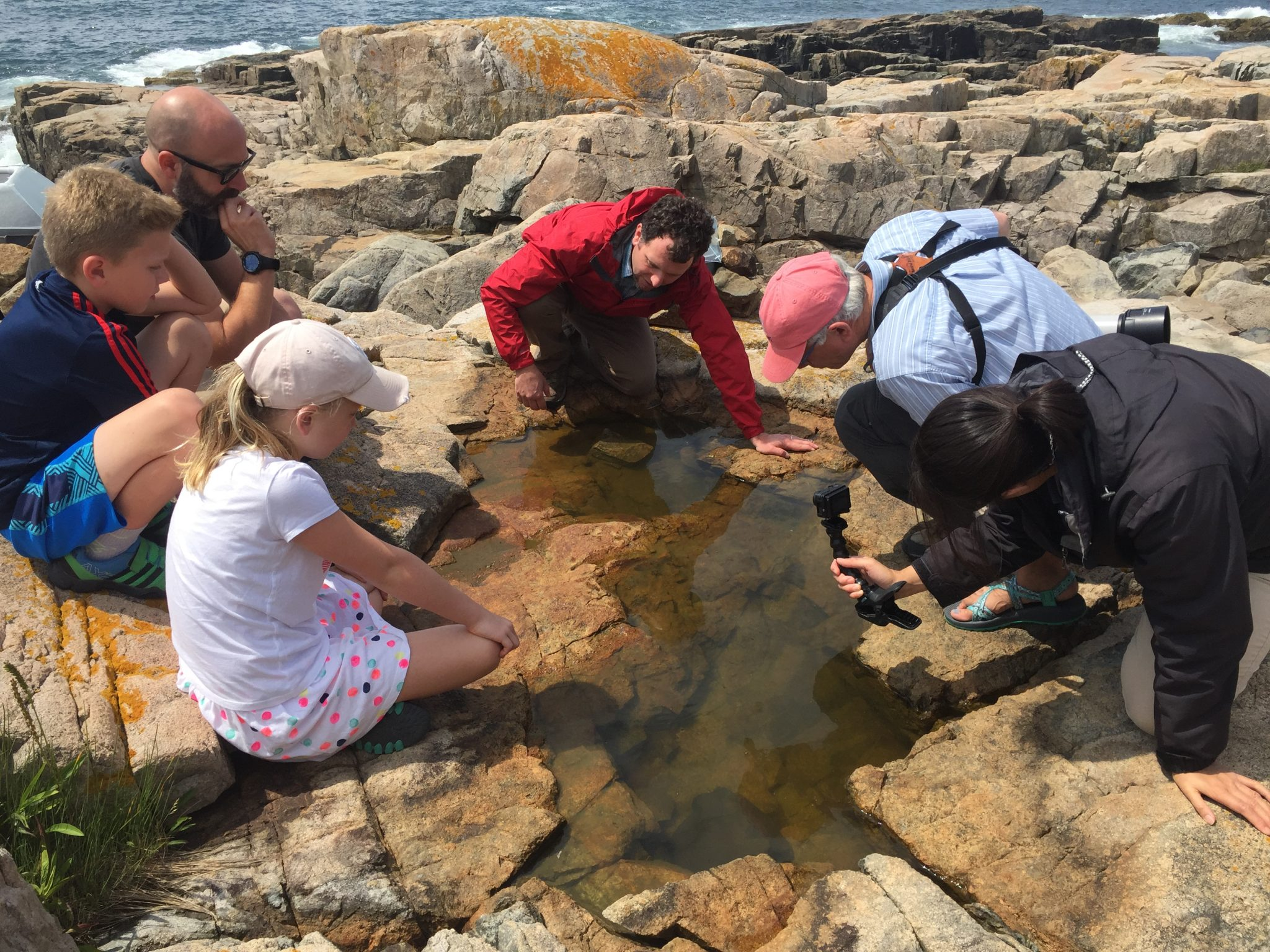 Chris Explaining Rock Pools To Park Visitors