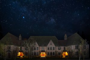 Night sky over Rockeferller Hall