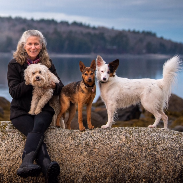 Zoe Weil with Dogs