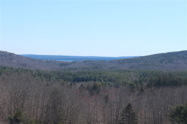 View looking northeast from McFarland hill with blue sky