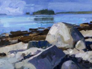 Painting - Phil Frey - Bold Coast Oil on Canvas